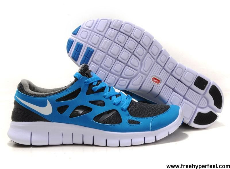 e1c64100774b1 ... clearance fashion 443815 020 mens nike free run 2 grey blue fashion  shoes store 87e1f caaa2