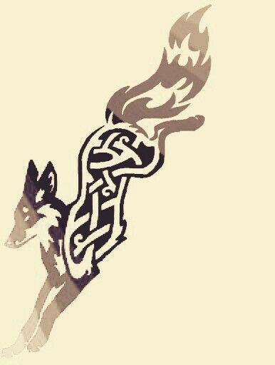 Tribal Celtic Fox Tattoo Designs