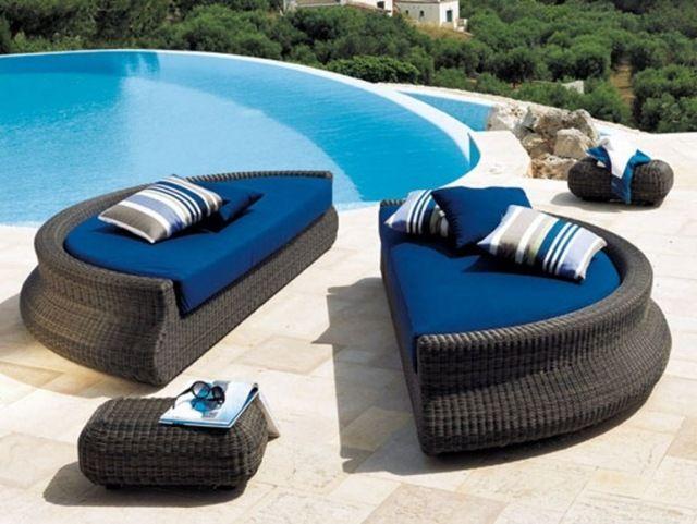 Mobilier extérieur design 60 chaises longues et lits de jardin