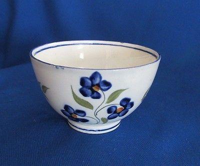 Sake Vintage cobalto asiática taza de porcelana de té Diseño azul de la flor