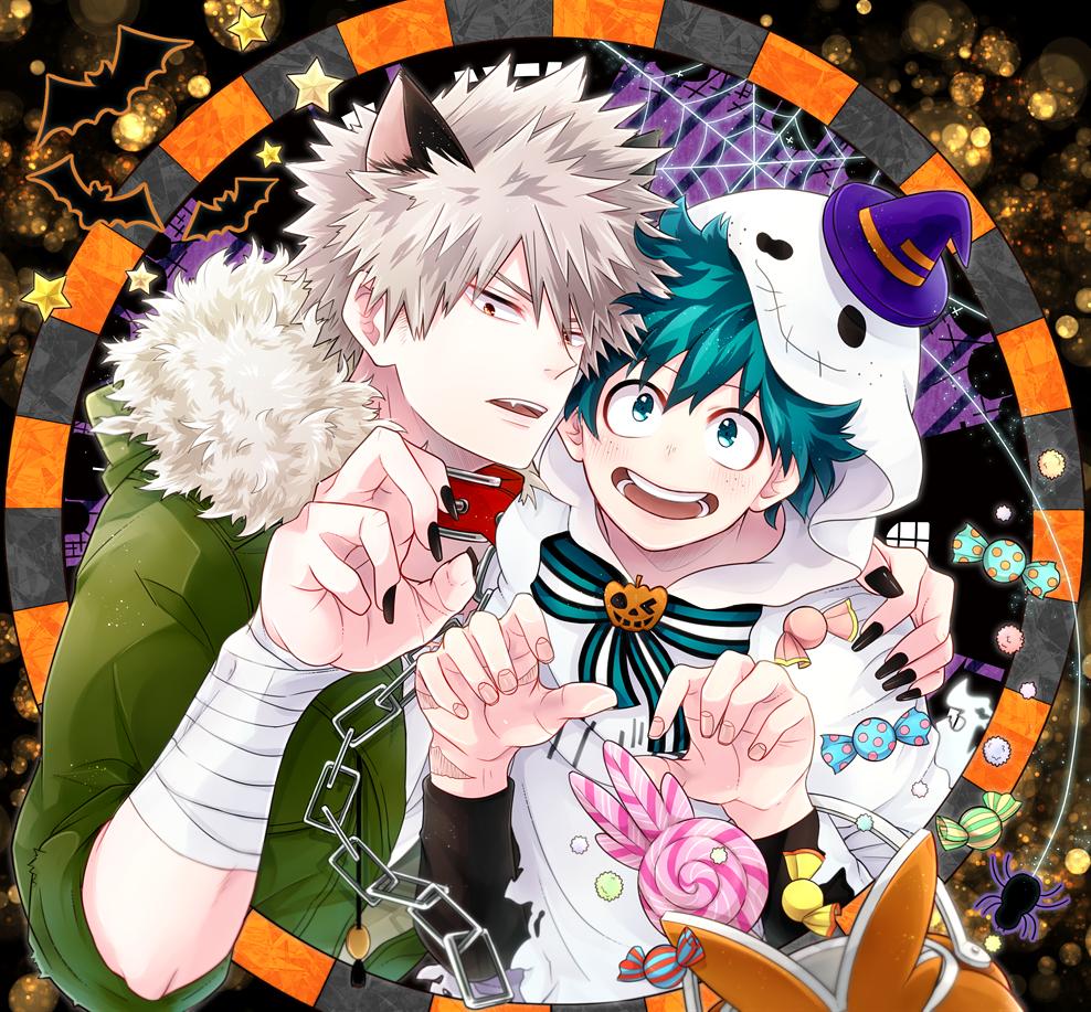 Image Result For Bakugou X Deku Halloween ศ ลปะอะน เมะ ต วการ ต นชาย