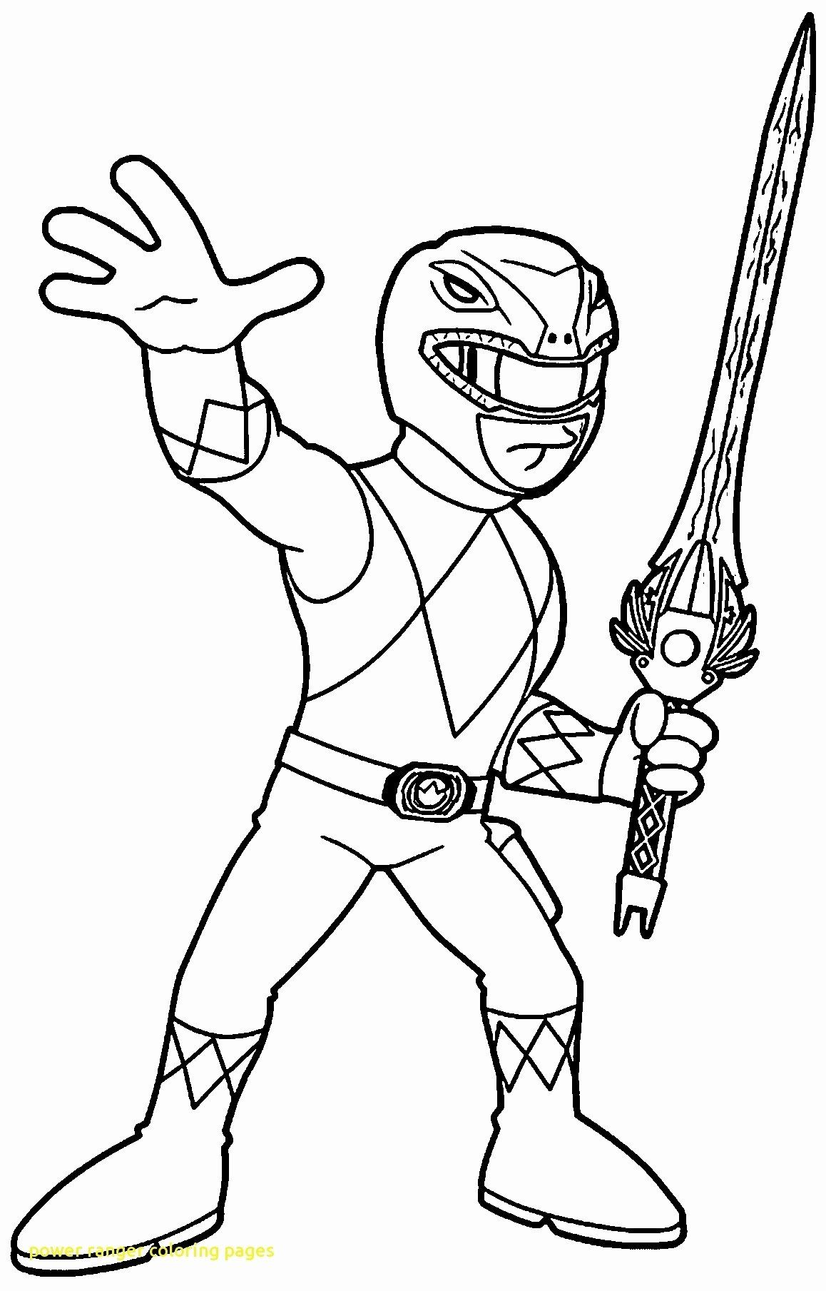 32 Red Power Ranger Coloring Page Em 2020