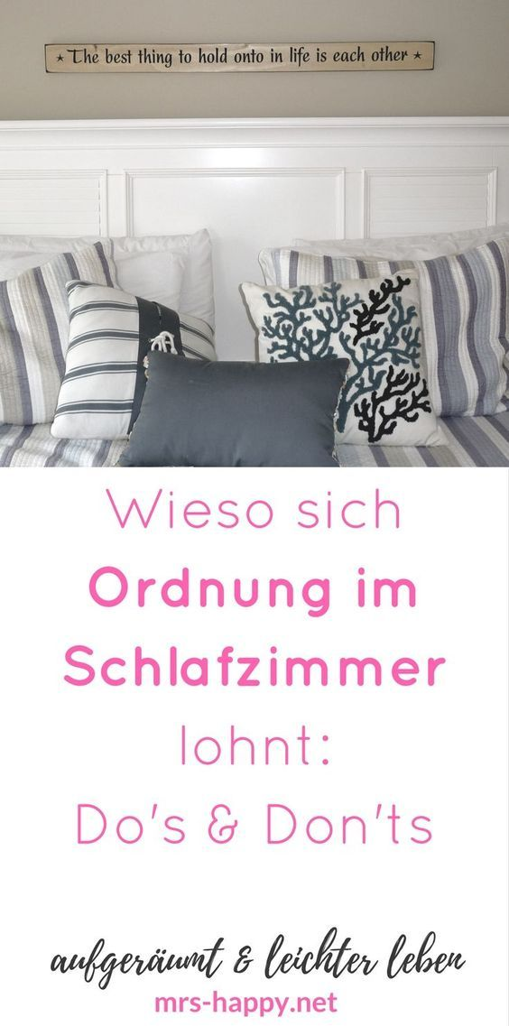 wieso sich ordnung im schlafzimmer lohnt die do 39 s don 39 ts der bettruhe gibt es bei mrs happy. Black Bedroom Furniture Sets. Home Design Ideas