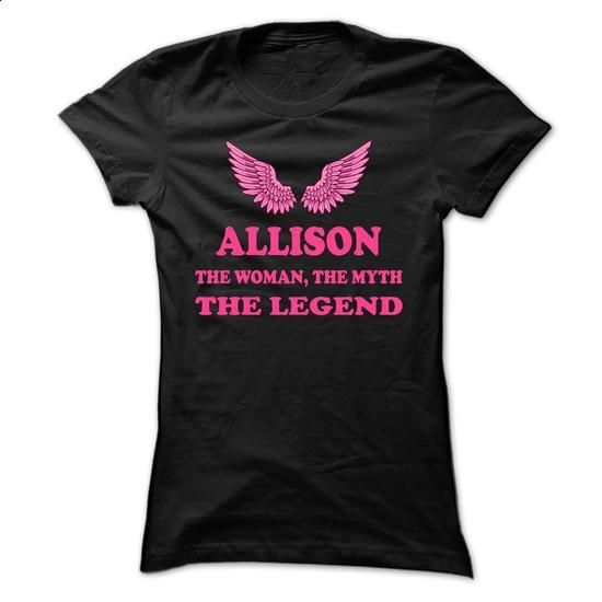 ALLISON, the woman, the myth, the legend - #diy tee #hoodie costume. ORDER NOW => https://www.sunfrog.com/Names/ALLISON-the-woman-the-myth-the-legend-ogytygwvnf-Ladies.html?68278