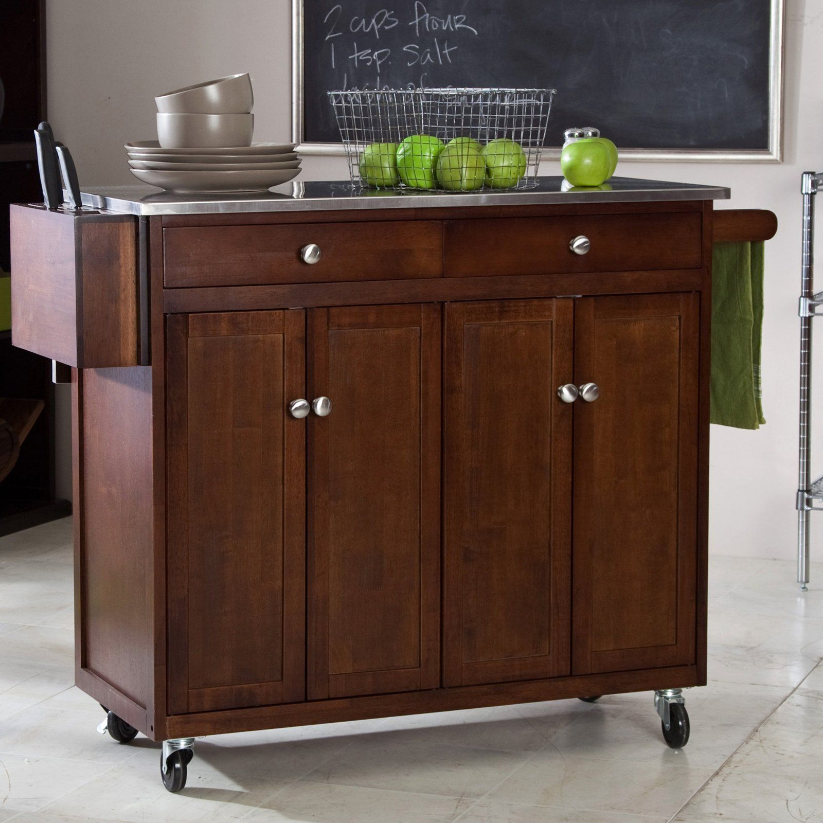have to have it the espresso kitchen cart 399 98 hayneedle com cozinha com ilha cozinha on kitchen island ideas kitchen bar carts id=52554