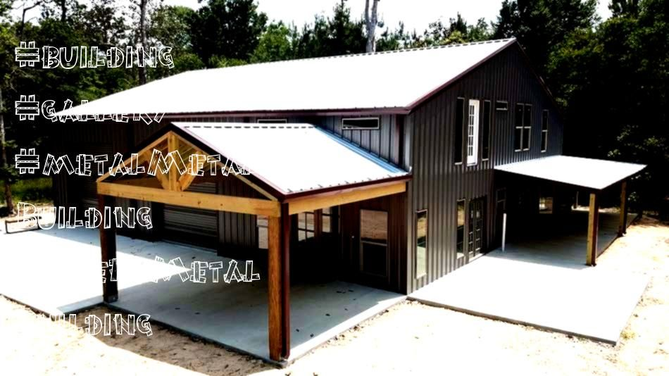 Building GalleryMetal Building Gallery Post Frame HomeBarndominium Plan  Billings Metal Building with Living Quarters ulliWith room for 2 cars plus an office and bath on...