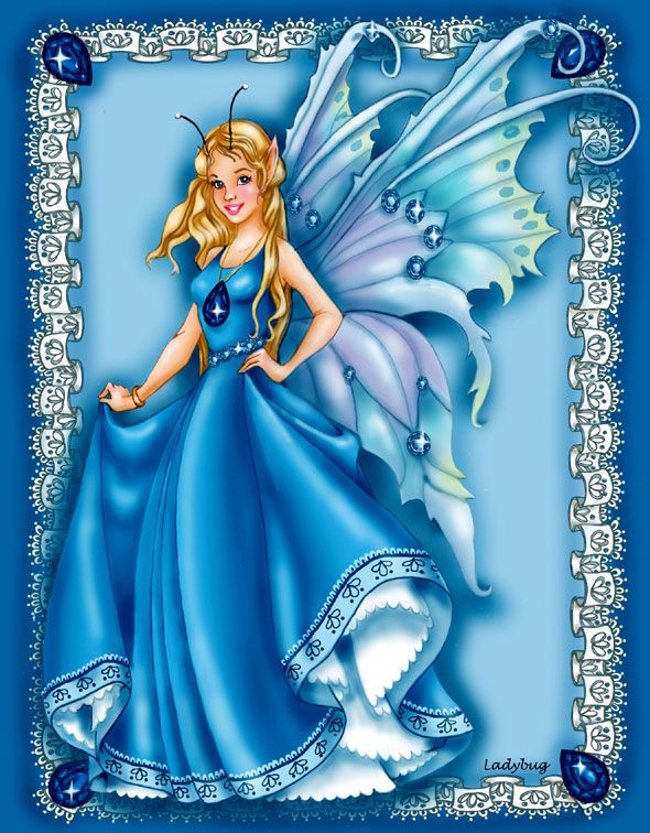 """Sapphire Faery"" © Ladybug Creations."