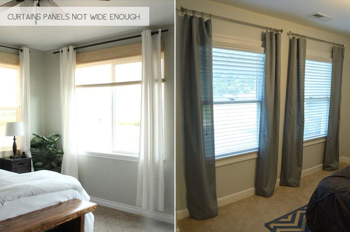 how to make grommet curtains hang straight