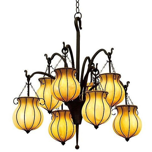 kalco lighting mardi gras chandelier liked on polyvore featuring home lighting