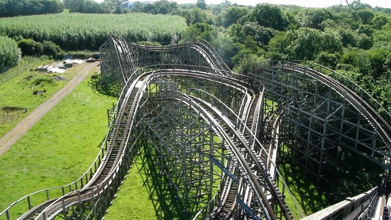 Megafobia At Oakwood Theme Park Pembrokeshire Wales Features A Twister Style Layout