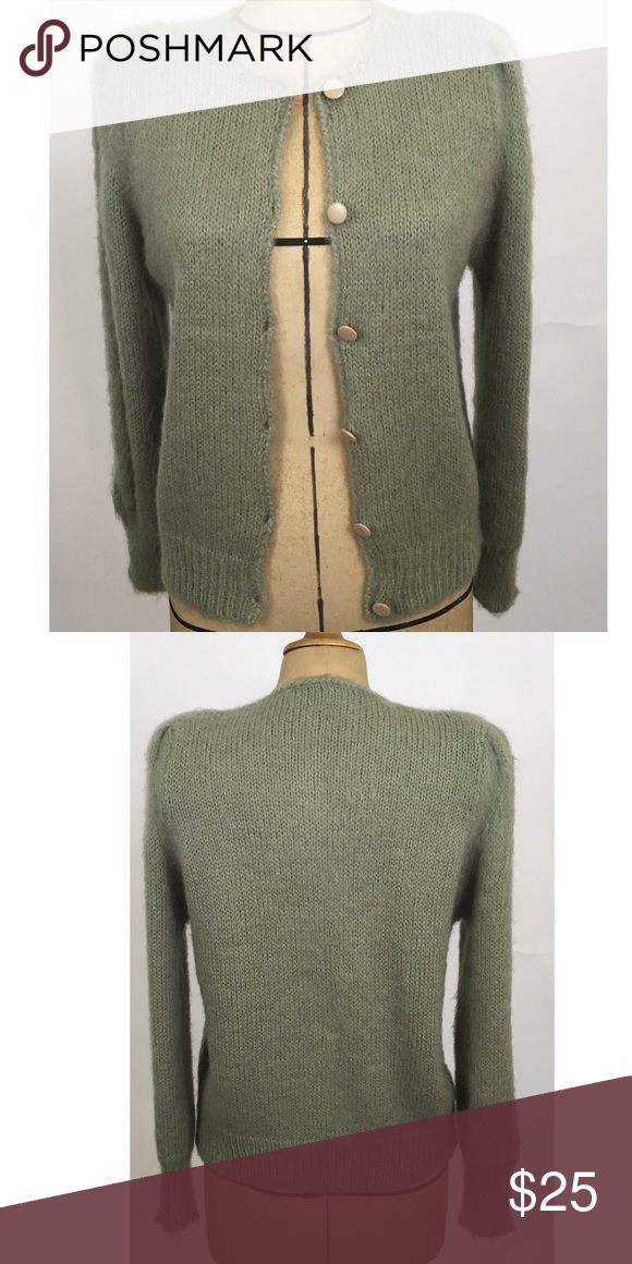 Vintage sweater Handmade super soft green vintage sweater Sweaters Cardigans