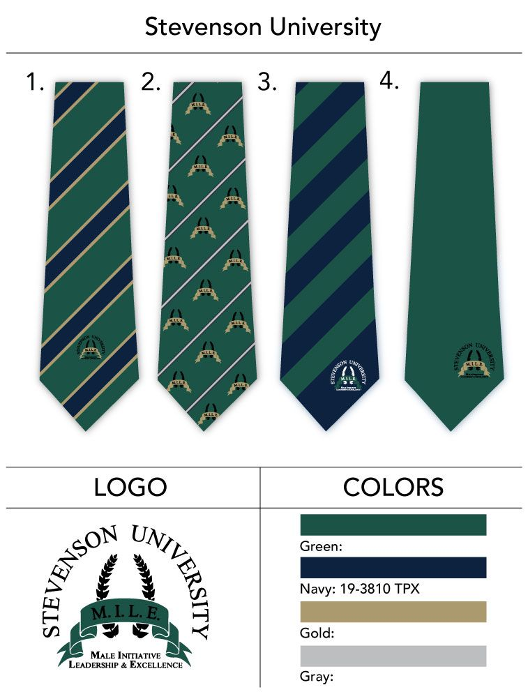 university custom logo necktie design template