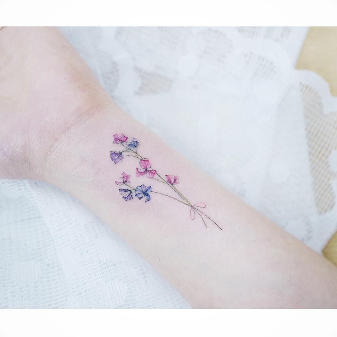 Watercolor Tattoos Korean Style Tattoo Tattoos Wrist Tattoos