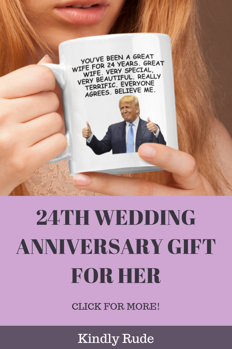 This is the funniest 24 anniversary giftever. If you have