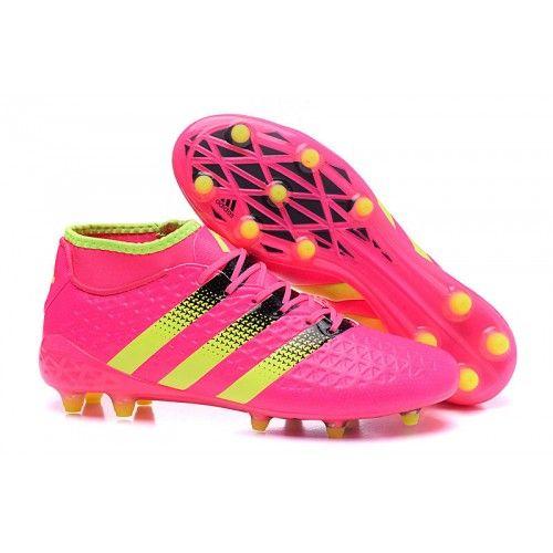big sale 7e153 613fc 2016 Adidas ACE 16.1Primeknit FG AG Fotballsko Rosa