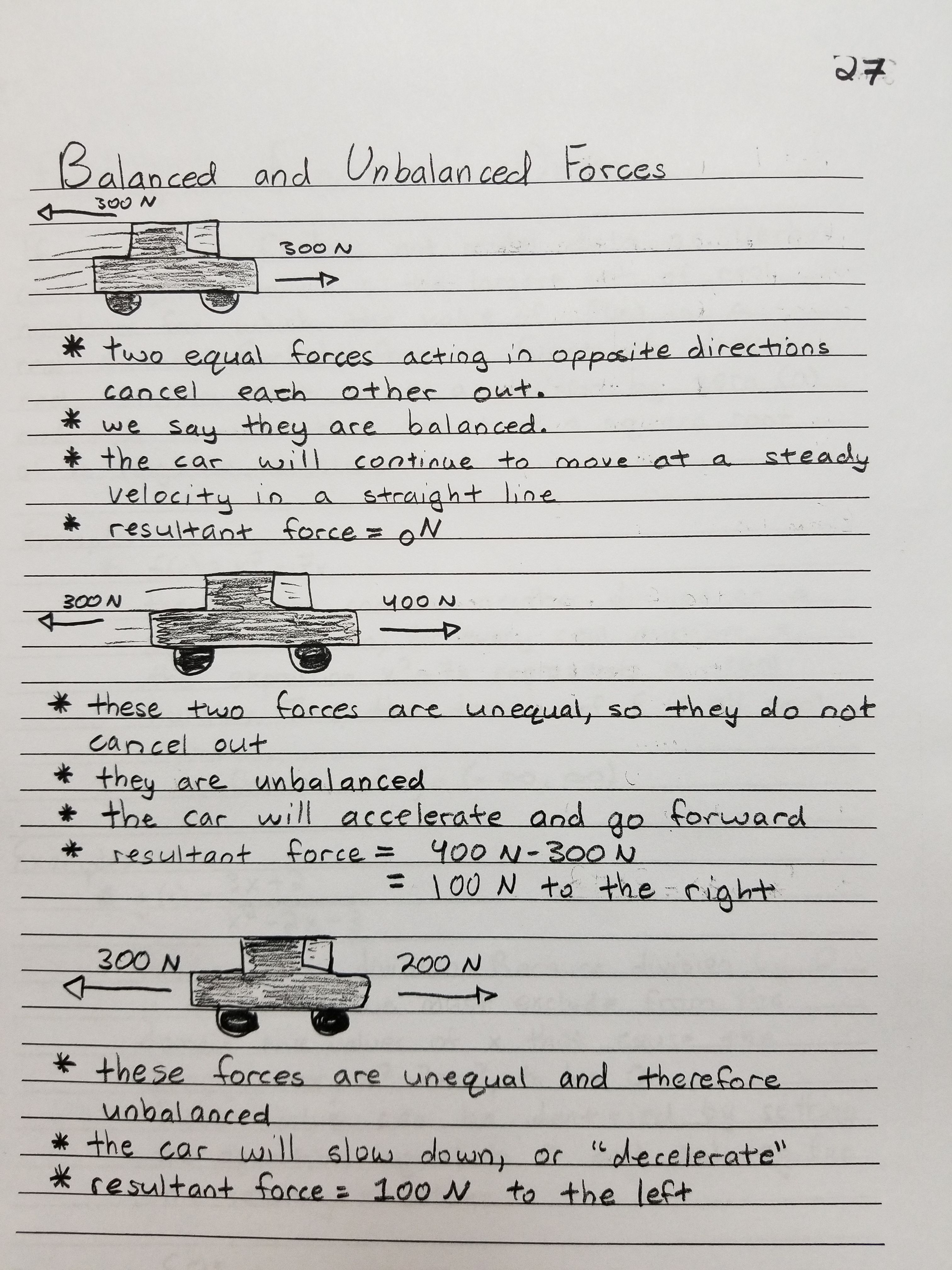 hight resolution of Balanced and Unbalanced Forces   Force and motion
