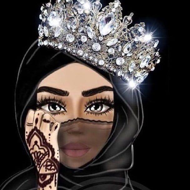 Картинка мусульманка в хиджабе с короной