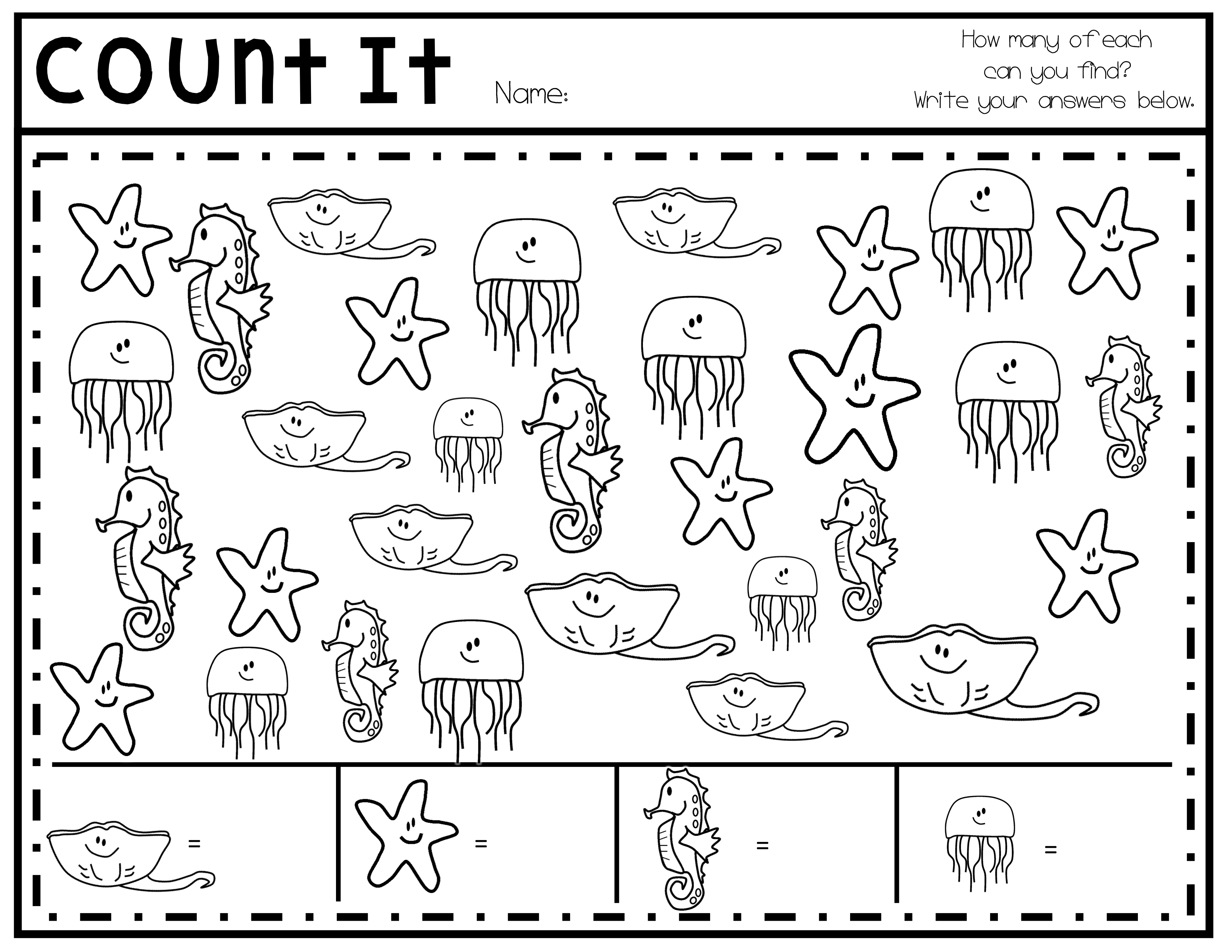Count It Pack Math Lessons Math Worksheets Small Groups [ 2550 x 3300 Pixel ]