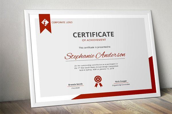 Modern MS Word certificate template | Certificate, Template and Modern