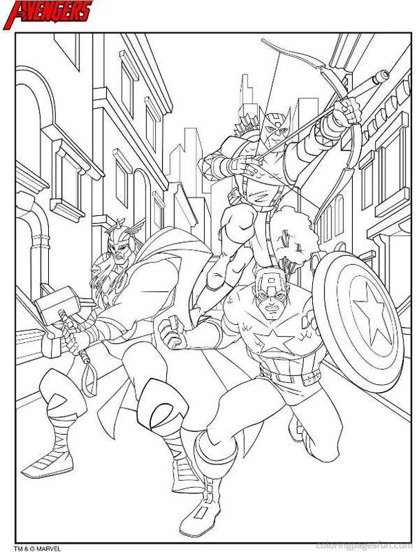 The Avengers Coloring Pages 5 | free coloring pages | Pinterest ...