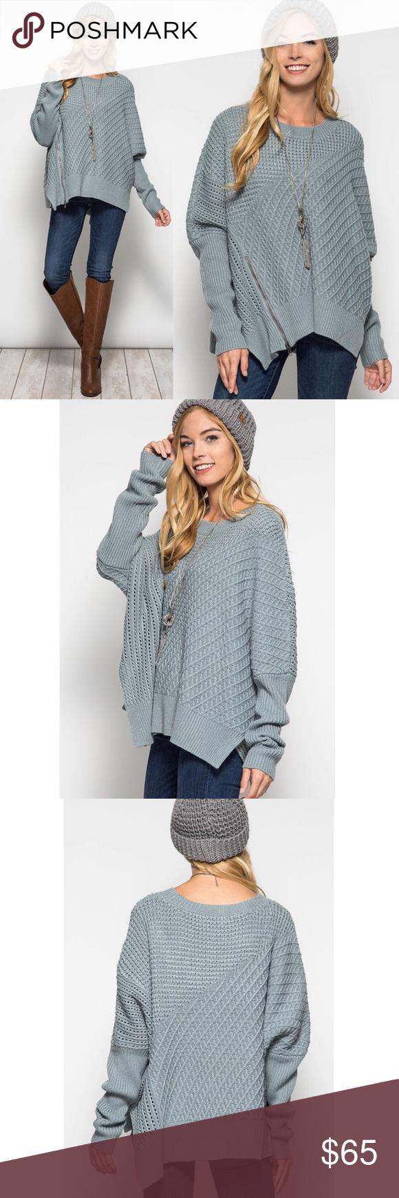 🚨LAST🚨EMIKO long sleeve oversize sweater - BLUE Long sleeve ...