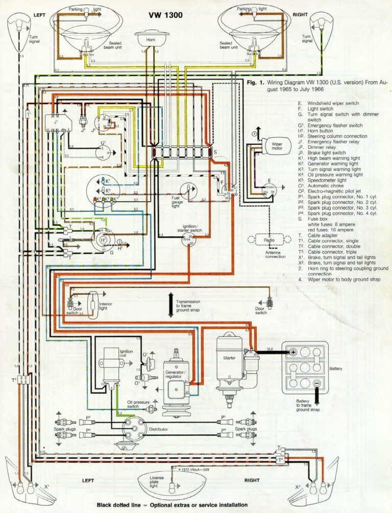Thesamba Com Type 1 Wiring Diagrams With 1969 Vw Beetle Diagram Vosvos Araba Arabalar