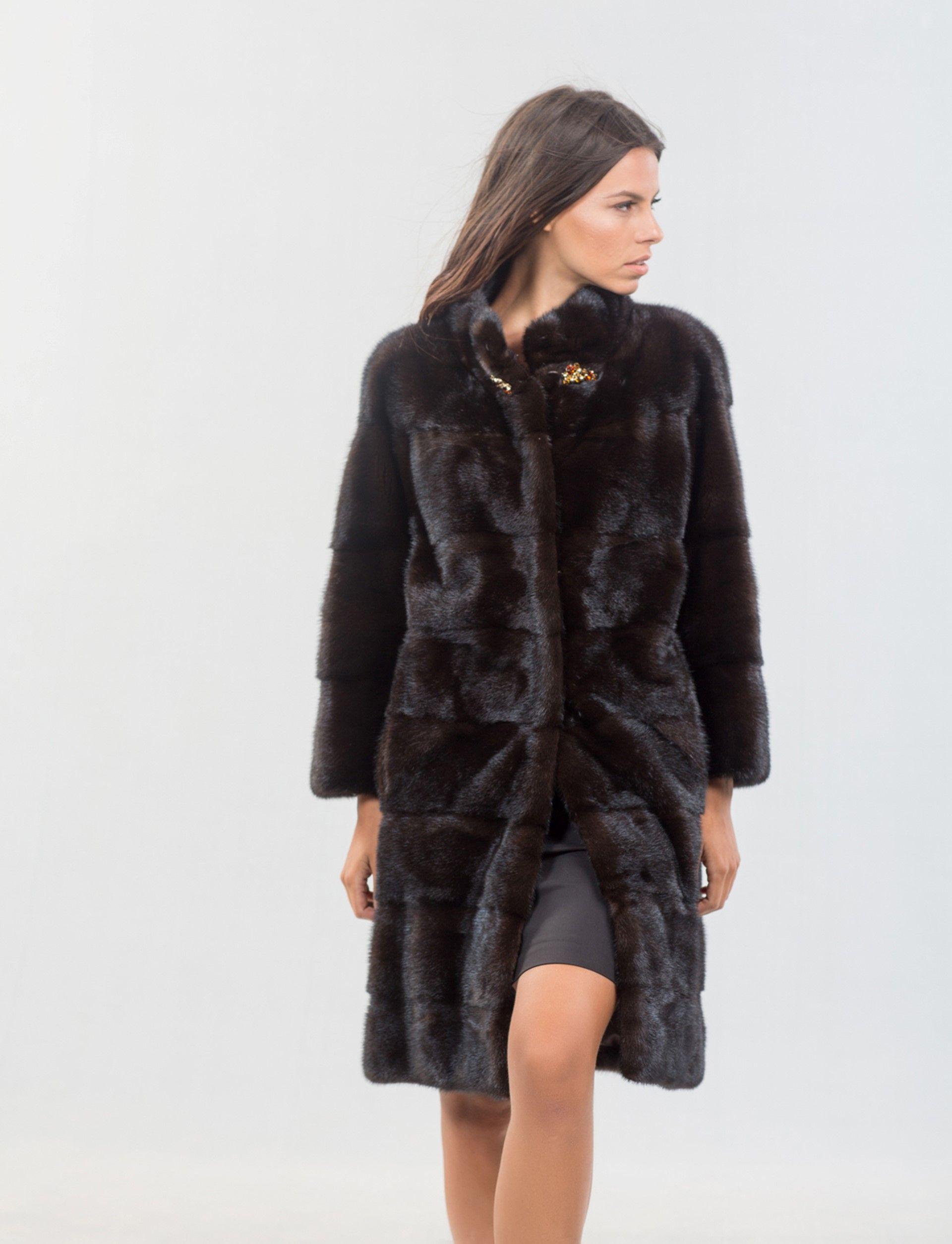 Mink Male Mahogany Fur Coat. 100% Real Fur Coats and Accessories ...