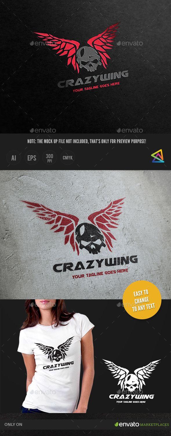 Crazy Wing Logo | Camisetas