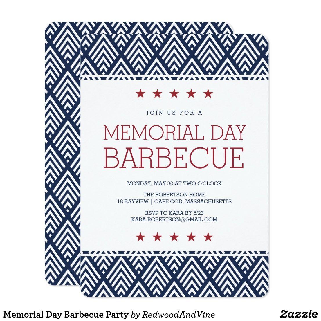 30 Unique And Breathtaking Wedding Backdrop Ideas: Memorial Day Barbecue Party Invitation