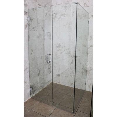 46 5 X 78 Hinged Frameless Shower Door Shower Doors Frameless Shower Doors Glass Shower Doors Frameless
