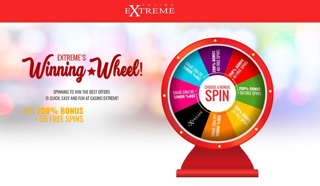 Casino Extreme Winning Wheel Bonus Codes And Zero Wagering Free