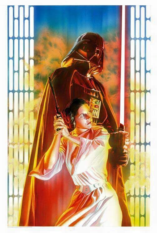 Vader & Leia by Alex Ross
