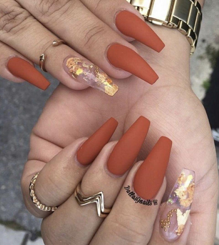 Pinterest: montesemily287 in 2020 | Fall acrylic nails ...