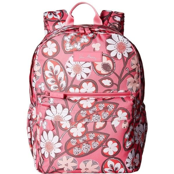 Vera Bradley Lighten Up Just Right Backpack (Blush Pink) Backpack Bags ($88) ❤ liked on Polyvore featuring bags, backpacks, rucksack bag, pink rucksack, zip handle bags, knapsack bag and day pack backpack