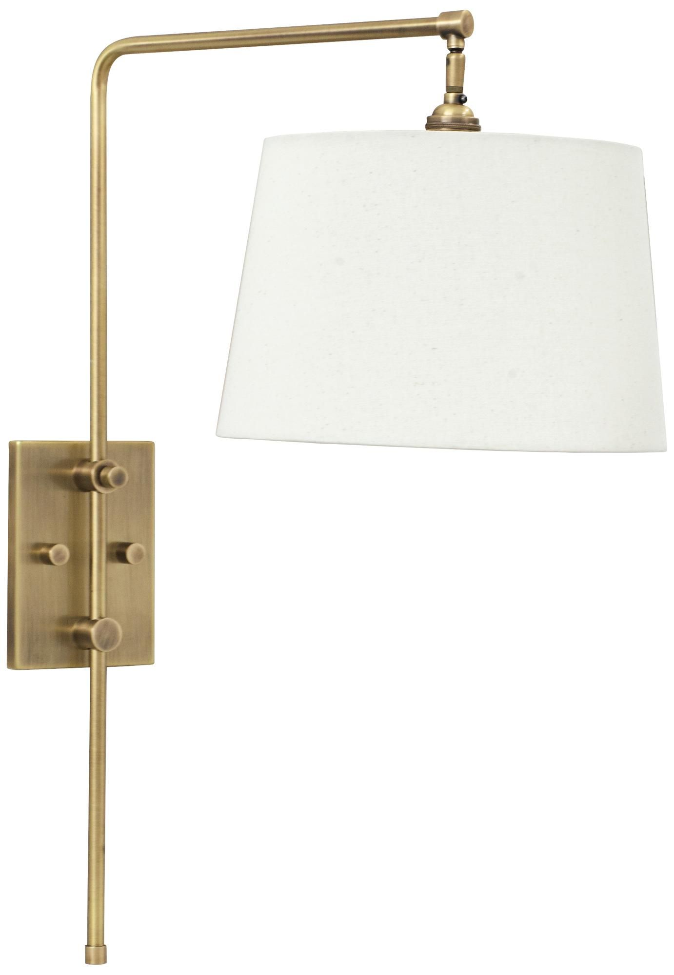 House Of Troy Crown Point Antique Brass Swing Arm Wall Lamp 6r187 Lamps Plus Swing Arm Wall Lamps Swing Arm Lamp House Of Troy