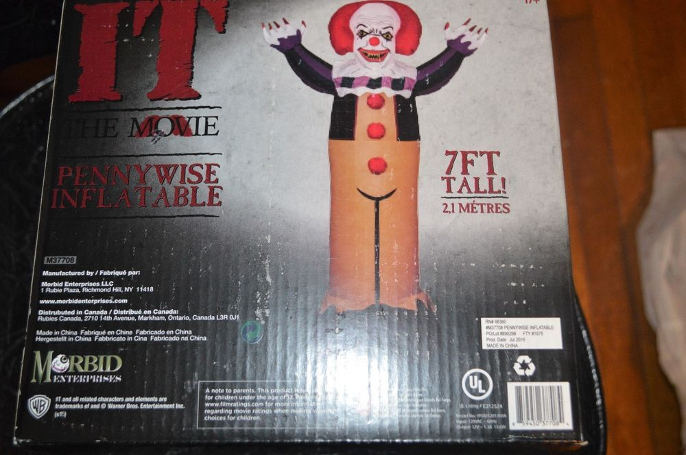 Halloween Inflatable 7 ft Tall IT Clown Pennywise Lawn Decoration - inflatable halloween decoration
