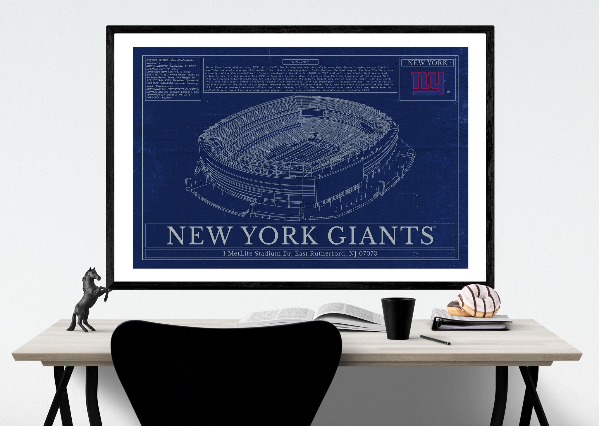 Unique nfl stadium blueprint new york giants metlife stadium blugifts malvernweather Images