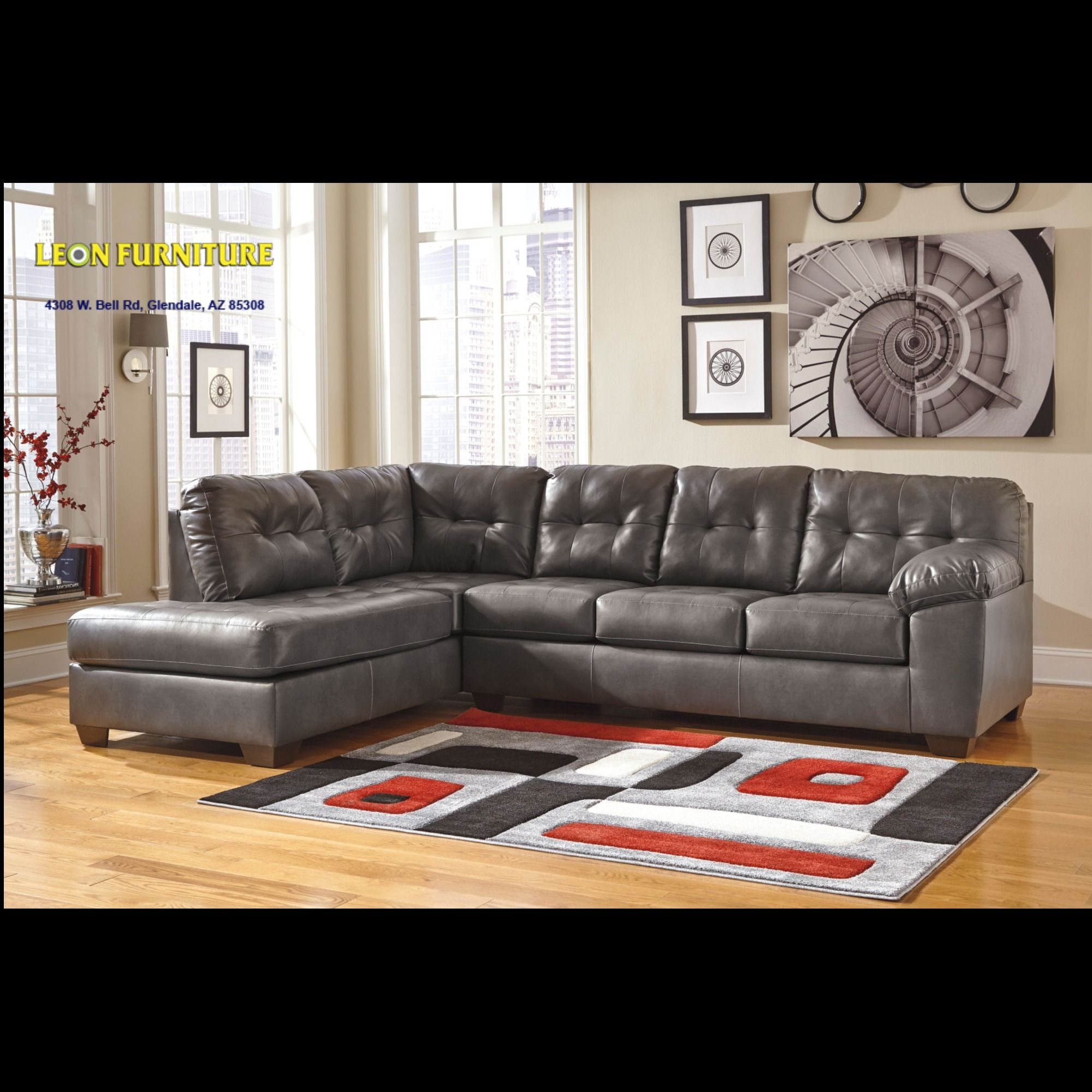 Alliston DuraBlend Gray 20102 2 PC Sectional