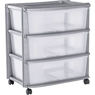 Buy 3 Drawer Plastic Wide Tower Storage Unit - Silver at Argos.co.uk - Your Online Shop for Plastic storage boxes and units.  sc 1 st  Pinterest & Buy 3 Drawer Plastic Wide Tower Storage Unit - Silver at Argos.co.uk ...