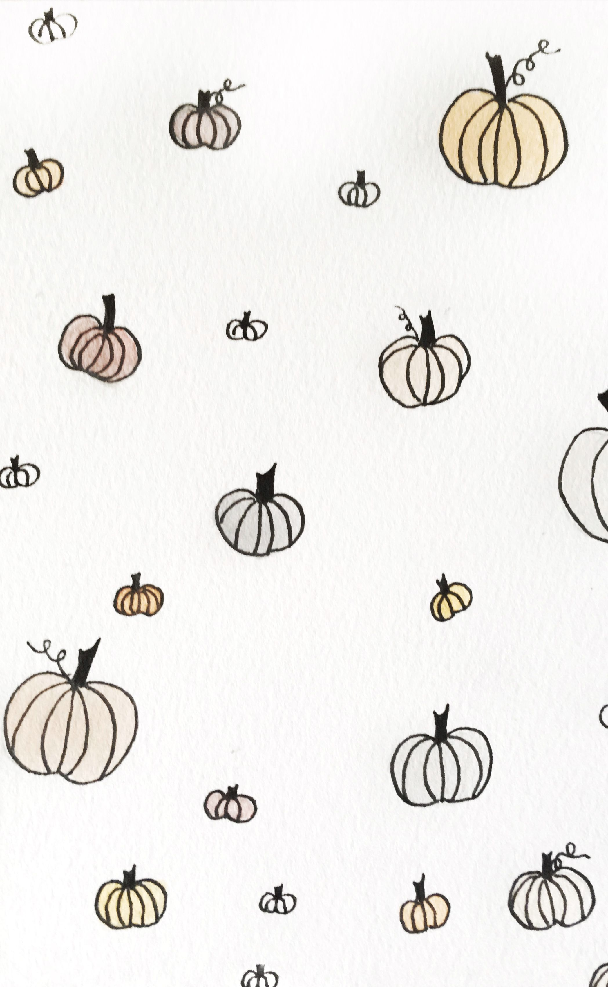 Pumpkin Iphone Watercolor Wallpaper Halloween Wallpaper Iphone Thanksgiving Wallpaper Watercolor Wallpaper