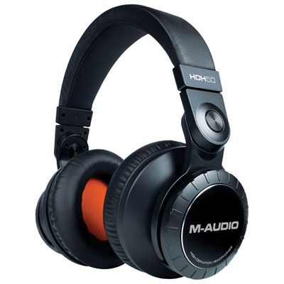 M-Audio HDH50 High-Definition Over-Ear Headphones - Black/Orange #audioheadphones