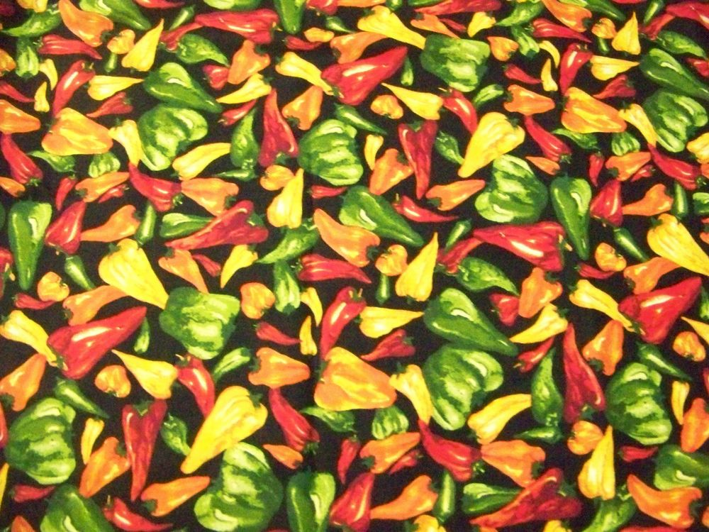 100/% Cotton Fabric Timeless Treasures Bell Pepper Food Vegetable