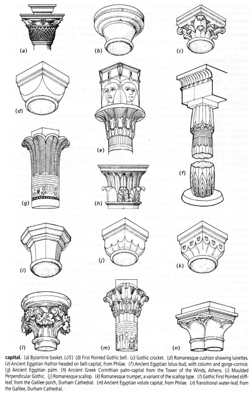Columns the world of design pinterest chapiteau for Dictionnaire architecture