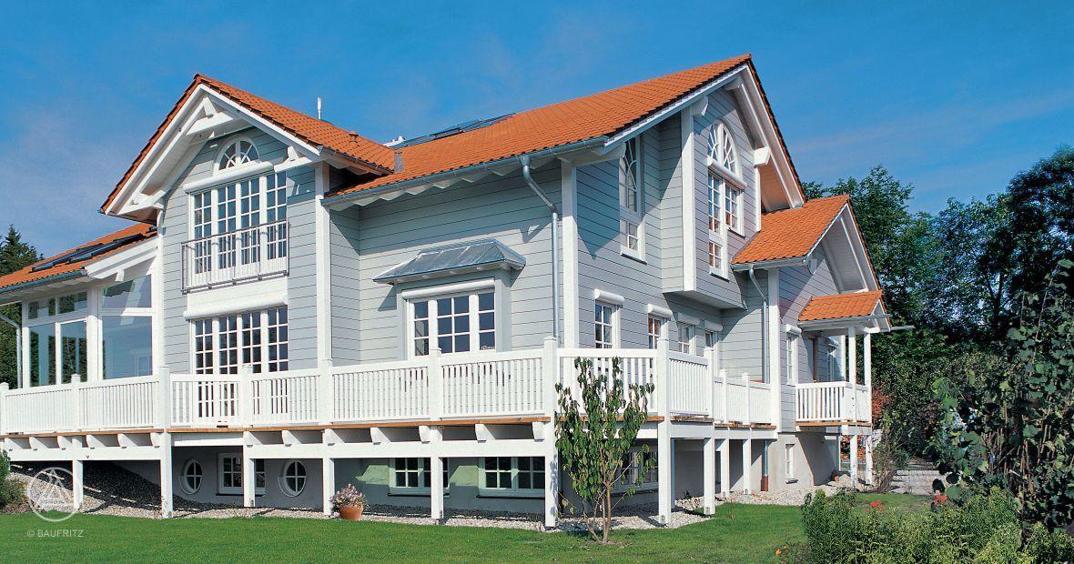 Traumhaus amerikanischer stil  Holzhaus im Landhaus-Stil American Dream. Hier wurden der ...