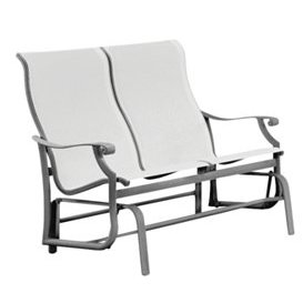Tropitone Montreux Sling Glider Bench Fabric Sparkling Water