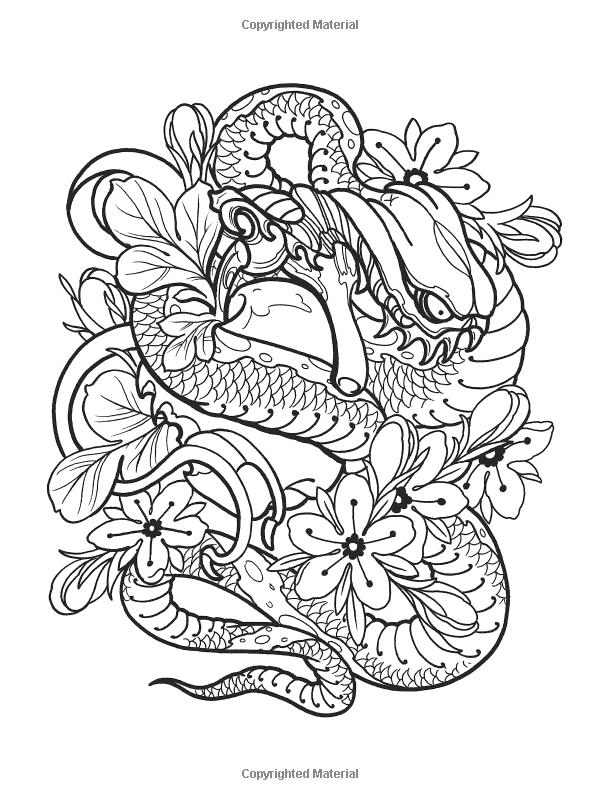 Creative Haven Modern Tattoo Designs Coloring Book Creative Haven Coloring Books Erik Si Designs Coloring Books Modern Tattoos Creative Haven Coloring Books
