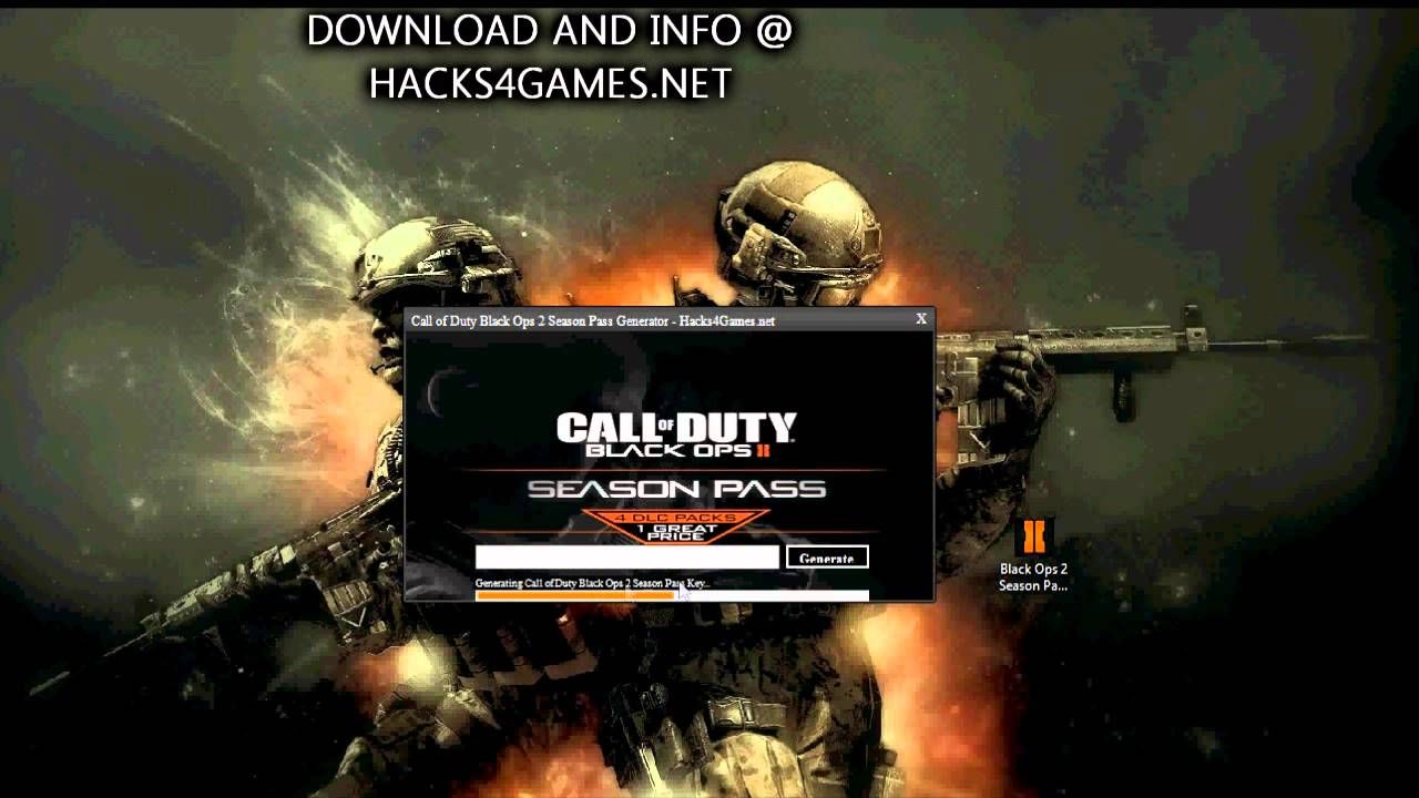 Black Ops 2 Season Pass Generator [UPDATED HACK] For XBOX