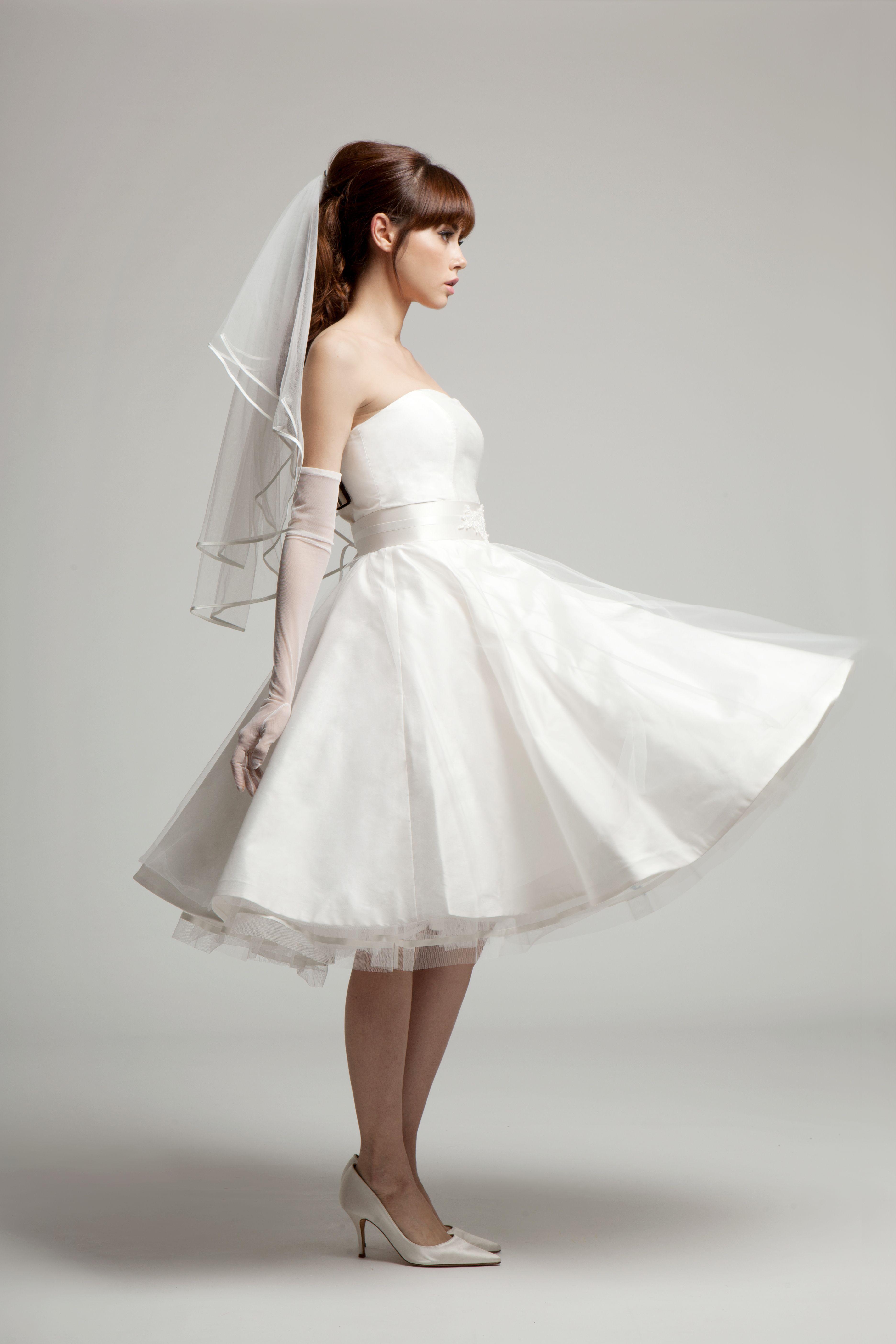 Grace Tea length wedding dress, Short wedding dress