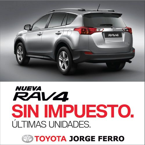 Oportunidad en #Toyota JORGE FERRO #Rav4 SIN IMPUESTO! Hacé tu consulta #online http://goo.gl/eMjC1n