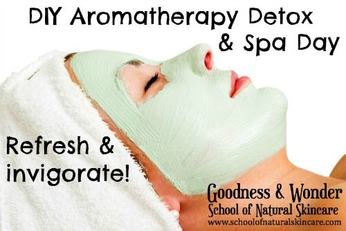 DIY Aromatherapy Detox and Spa Day! Discover: The best detoxing and invigorating essential oils, Pampering treatments to cleanse and revitalise the skin, How to make body oils, perfume oil, bath soak, body scrubs and face mask, How to create an at home spa day! Get the full guide here http://www.schoolofnaturalskincare.com/complete-aromatherapy-detox/